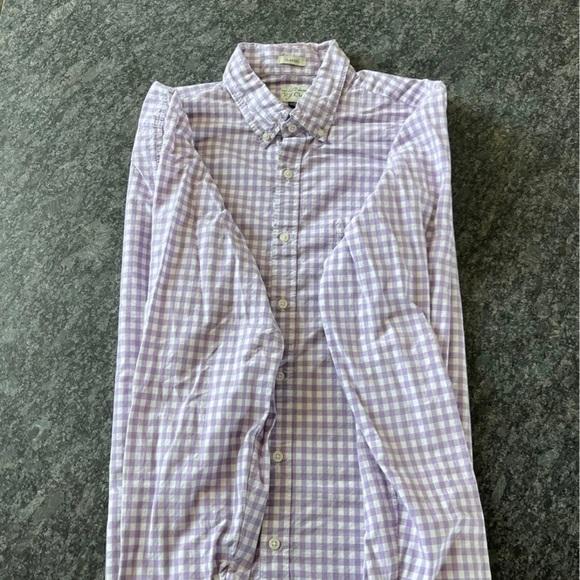 J. Crew Purple Checkered Dress Shirt